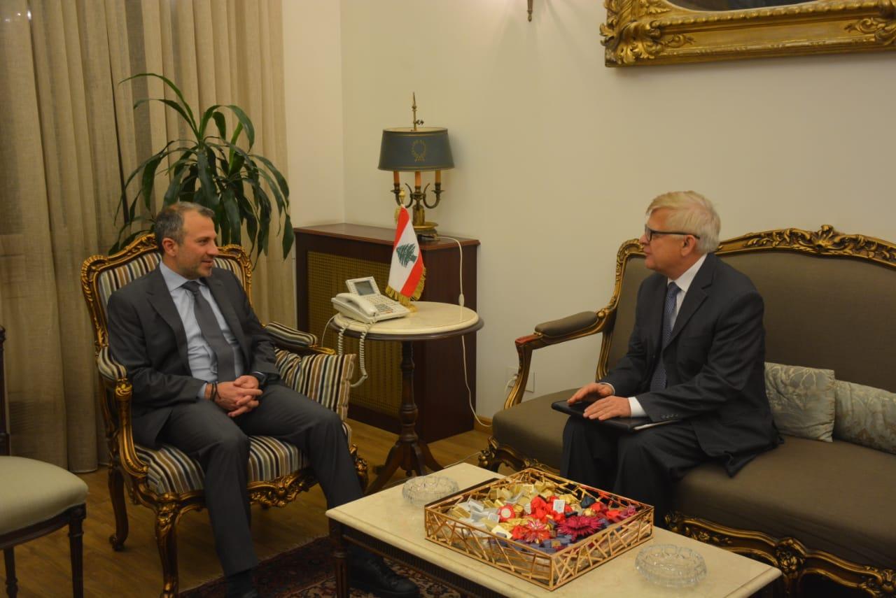 زاسبيكين من وزارة الخارجية اللبنانية: نستغرب الدعوة الى مؤتمر وارسو