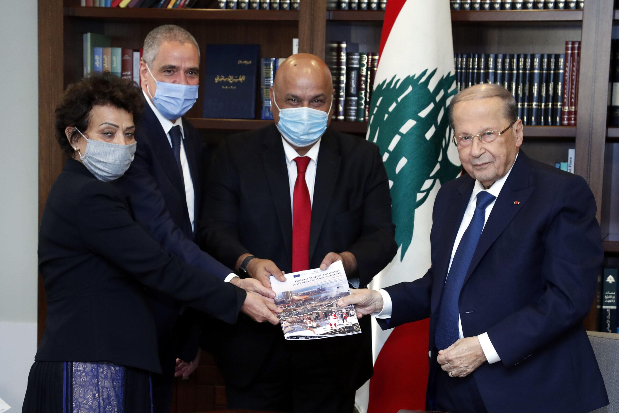 تقرير للبنك الدولي والامم المتحدة والإتحاد الأوروبي كشف ان حجم الأضرار الأولية بلغ 8,1  مليار دولار بعد انفجار بيروت