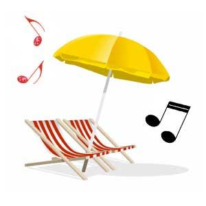 musica sotto l'ombrellone
