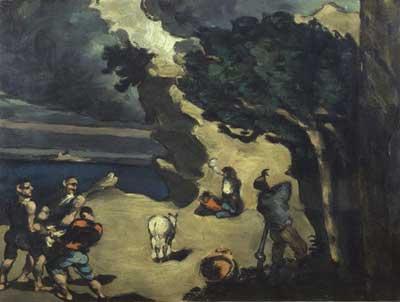 Cezanne, I ladri e l'asino