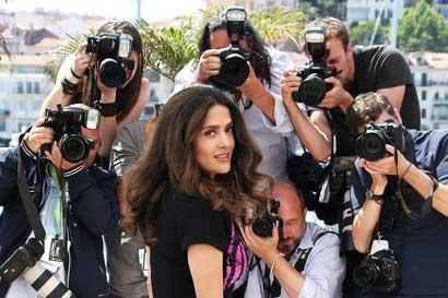 Salma Hayek-Pinault - Photocall - A Tribute to Animated Films (Hommage au cinéma d'Animation) © AFP / L. Venance