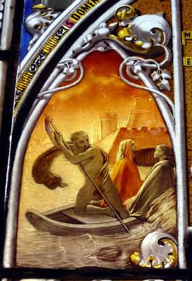 Flegias in una splendida vetrata ottocentesca al Poldi Pezzoli di Milano - (c) Giovanni Dall'Orto, Wikipedia