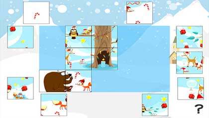 puzzle natale app gioco
