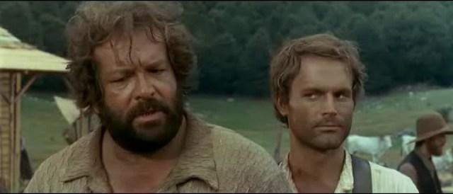 Bud Spencer e Terence Hill in Lo chiamavano Trinità... (1970).