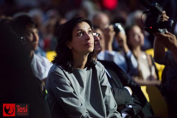 Ralitza Petrova (Pardo d'oro per GODLESS) in Piazza Grande © Tosi Photography