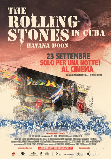 Il poster del film The Rolling Stones - Havana Moon in Cuba