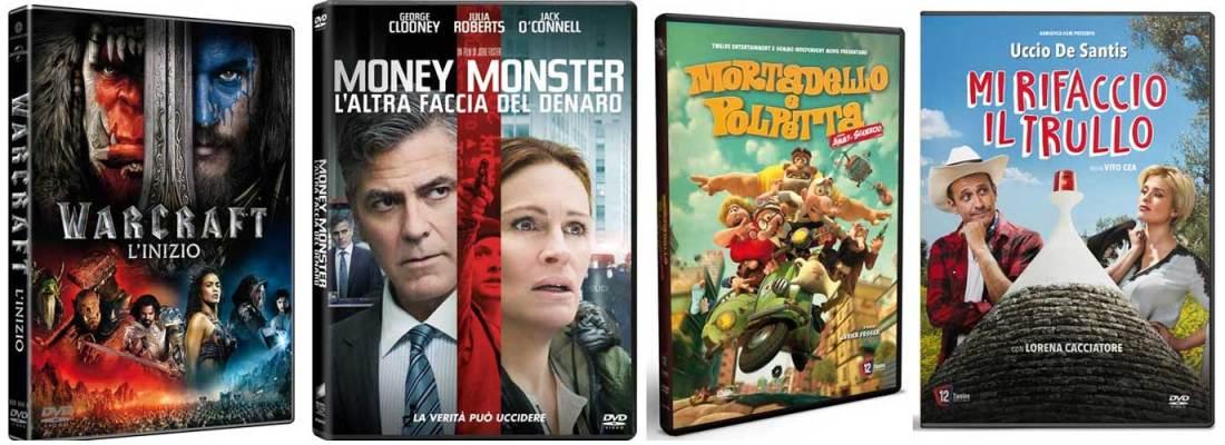 Le cover di alcuni DVD usciti a settembre 2016