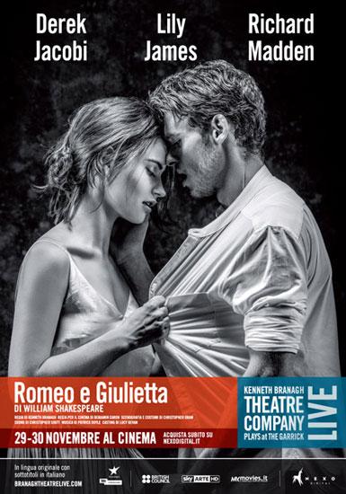 il poster del Romeo e Giulietta di Kenneth Branagh
