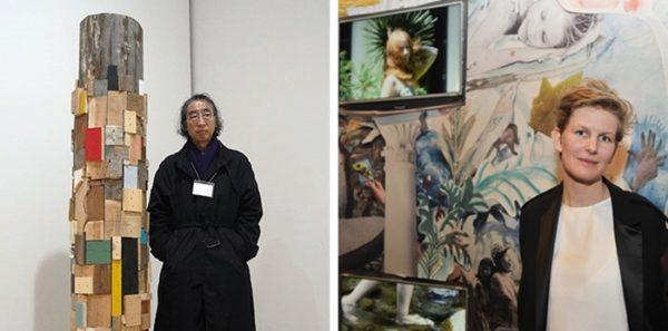 Arte contemporanea all'Hangar Bicocca - a sinistra: Kishio Suga - a destra: Louise Prouvost