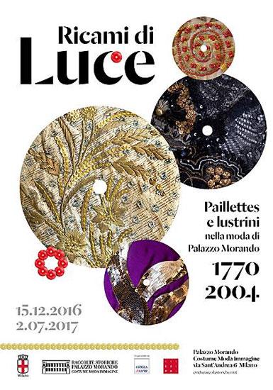 Il manifesto della mostra Ricami di Luce