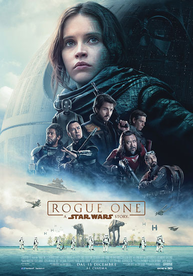 Il poster italiano del film Rogue One A Star Wars Story