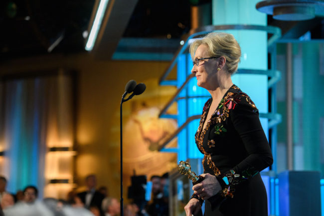 Meryl Streep ai Golden Globes 2017 - Ph: HFPA Photographer