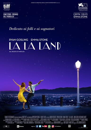 Il poster italiano del film LA LA LAND