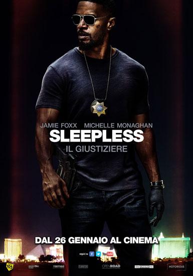 il poster italiano del film Sleepless - Il Giustiziere