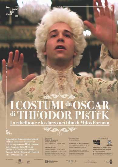 La locandina della mostra I costumi da Oscar di Theodor Pistek