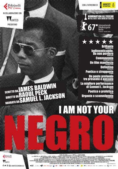 La locandina italiana di I am not your Negro
