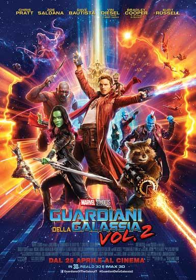 Il poster del film GUARDIANI DELLA GALASSIA Vol.2