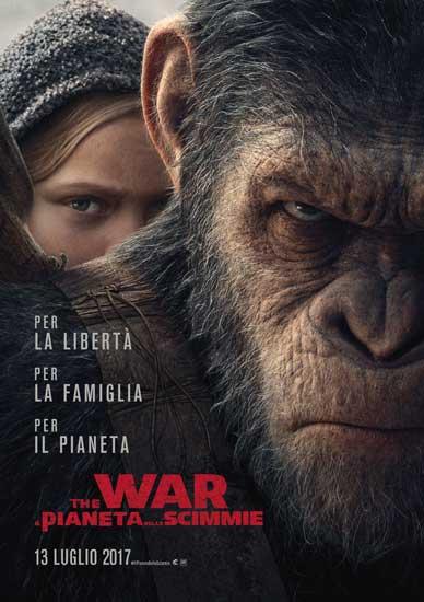 Il poster italiano del film The War - Il Pianeta delle Scimmie