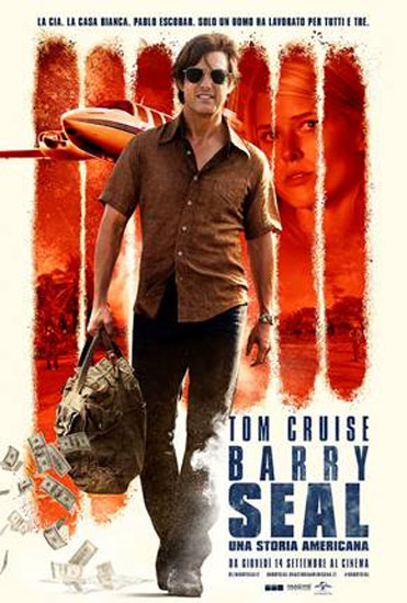il poster italiano del film Barry Seal