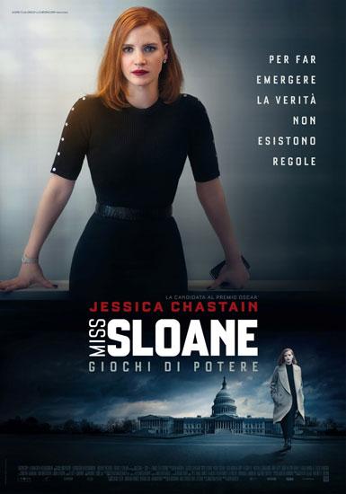 il poster italiano del film Miss Sloane