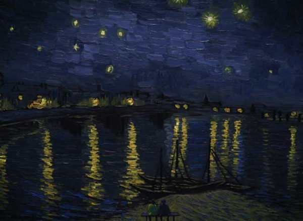 Loving Vincent - Landscape Starry Night over the Rhone