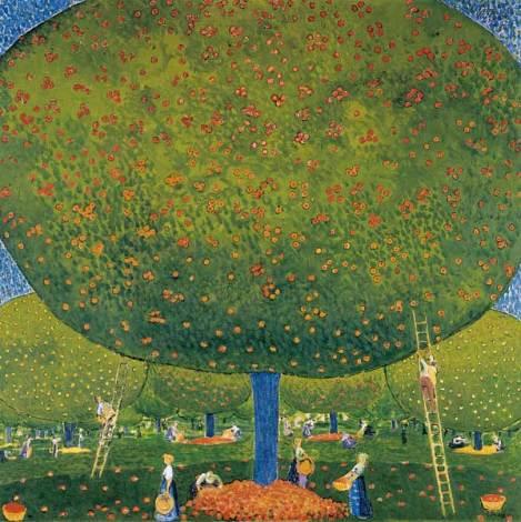Cuno Amiet, La raccolta delle mele, 1907 © M. + D. Thalmann, Herzogenbuchsee