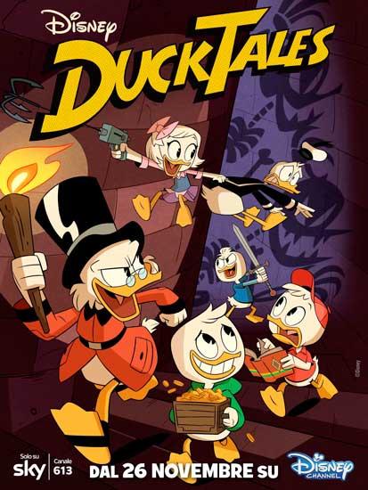 La locandina italiana della serie televisiva Ducktales (2017)