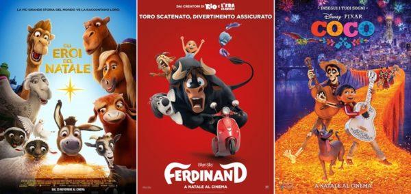 Cose da fare a Natale a Milano con i bambini: i film Gli eroi di Natale, Ferdinand e Coco