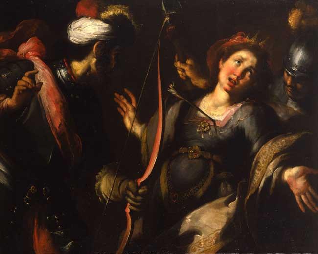 L'ultimo Caravaggio - Bernardo Strozzi, Martirio di sant'Orsola, 1615-1618 - olio su tela, 104 x 130 cm - Collezione privata. Courtesy Robilant+Voena