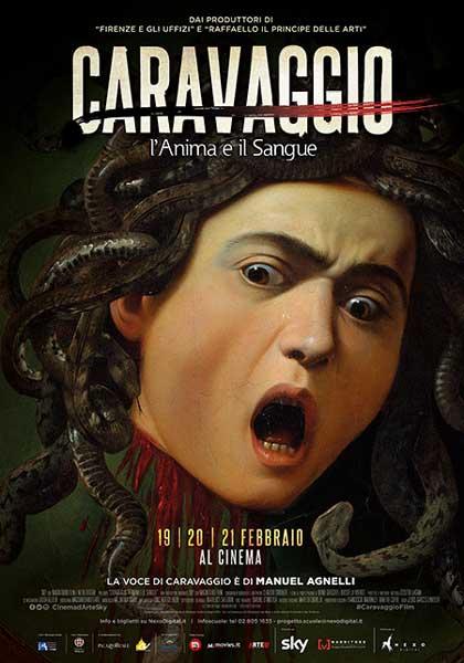 il poster italiano del film Caravaggio l'Anima e il Sangue