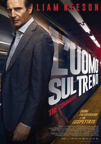 La locandina italiana del film L'uomo sul treno (2018)