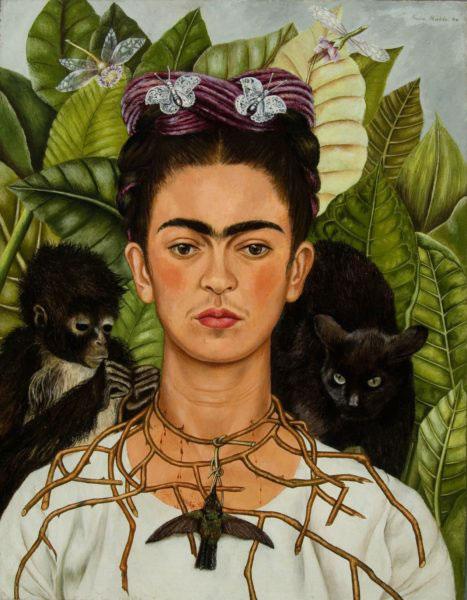 Frida Khalo, Autoritratto, 1940, (c) Banco de México Diego Rivera Frida Kahlo Museums Trust, México, D.F. by SIAE 2018