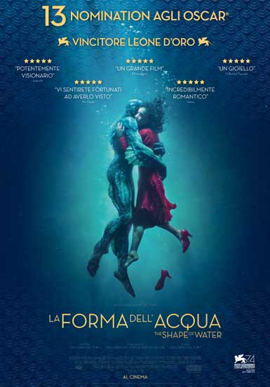 La locandina del film La Forma dell'Acqua - The Shape of Water