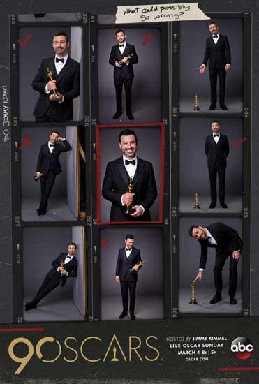 Oscar 2018: la locandina dell'evento con Jimmy Kimmel