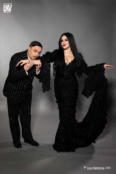 La Famiglia Addams - Gabriele Cirilli (Gomez) e Jacqueline Maria Ferri (Morticia) - Foto 2018 Luca Vantusso