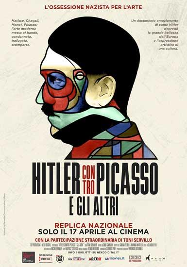 il nuovo poster del docufilm Hitler Contro Picasso e gli altri (2018)