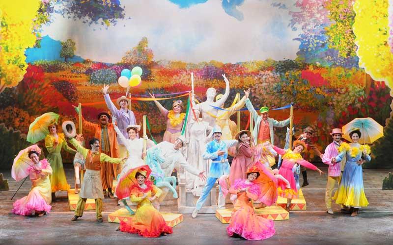 il cast del musical Mary Poppins al Teatro Nazionale di Milano - Foto di Alessandro Pinna