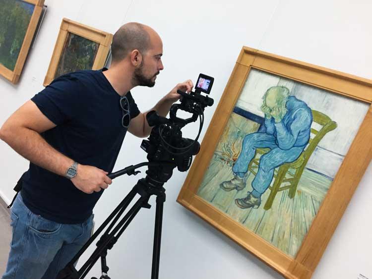 il backstage dalle riprese del film Van Gogh tra il grano e il cielo al Kröller Müller Museum di Otterlo
