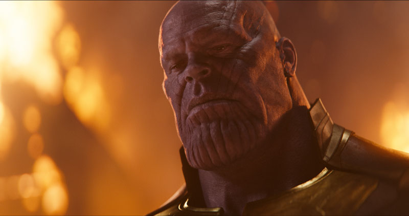 Josh Brolin in una scena di Avengers: Infinity War - Photo: MARVEL STUDIOS