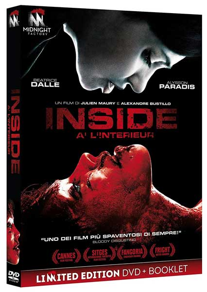 la cover del DVD italiano del film inside