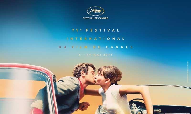 il poster ufficiale del Festival de Cannes 2018 (c) Maquette: Flore Maquin - Photo: Pierrot le fou (c) Georges Pierre