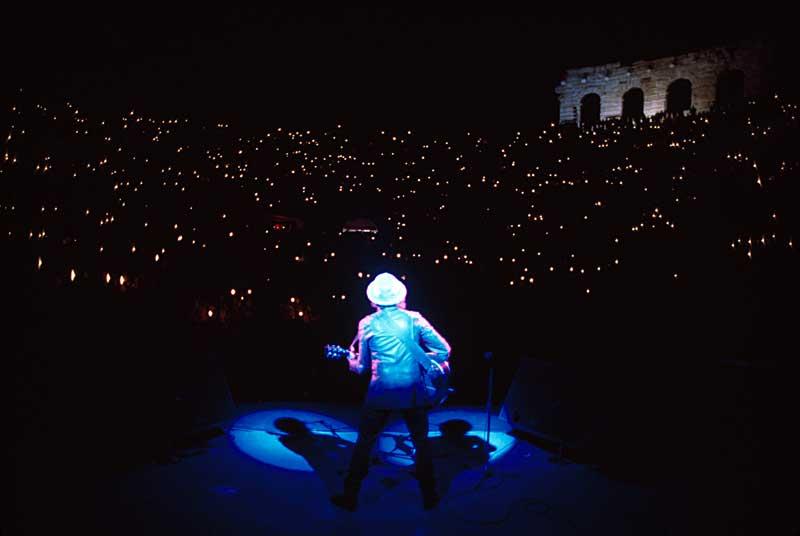 Guido Harari, Bob Dylan, Verona, Arena, 28 maggio 1984 - copyright Guido Harari
