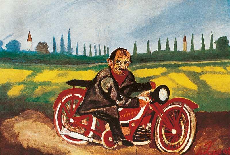 Easy Rider il mito della motocicletta: Antonio Ligabue, Autoritratto sulla moto, 1953