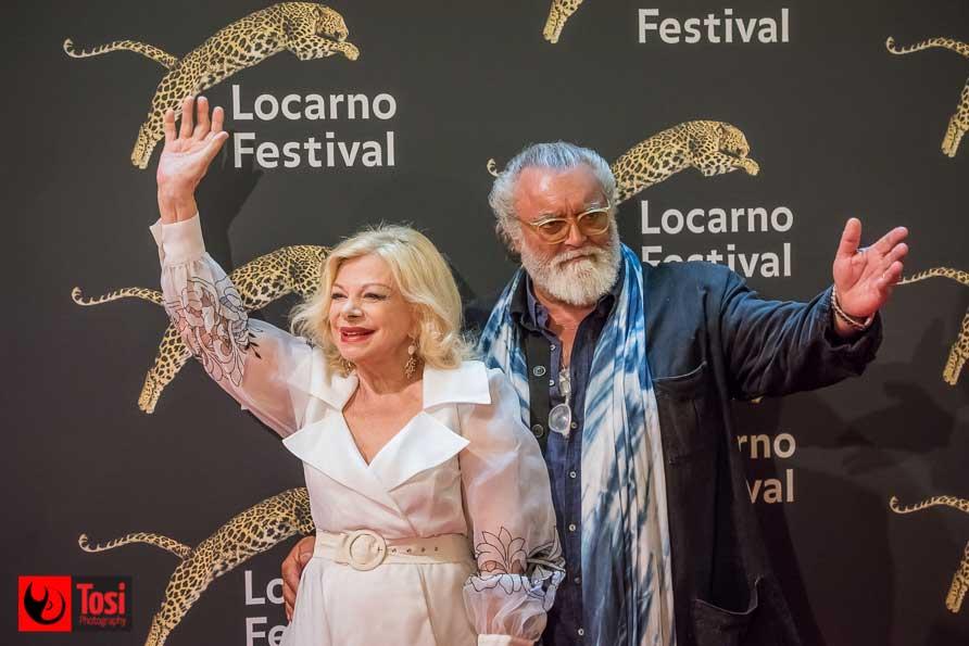 Diego Abatantuono e Sandra Milo in Piazza Grande la sera del 7 agosto 2018 - Tosi Photography