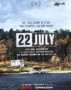 La locandina del film 22 july