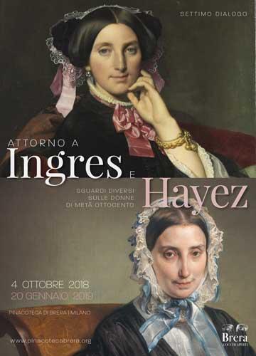 la nuova Brera: il poster del VII Dialogo - Attorno a Ingres e Hayez