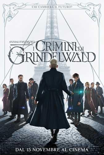La locandina italiana del film Animali Fantastici - I Crimini di Grindelwald