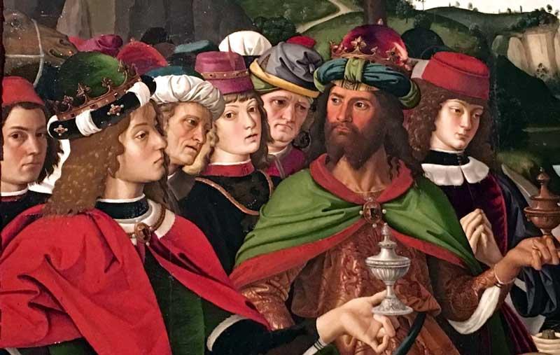 Perugino, L'Adorazione dei Magi: un dettaglio - Foto by MaSeDomani