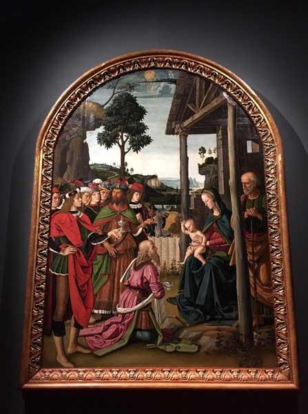 Perugino, L'Adorazione dei Magi - Crediti foto: Nick Zonna