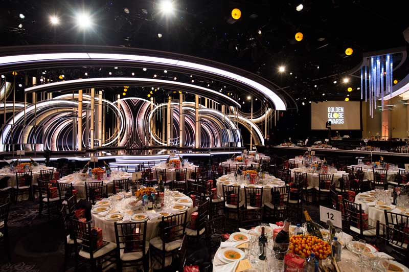 la sala in cui si è tenuta la cerimonia dei Golden Globe 2019 - Photo: HFPA